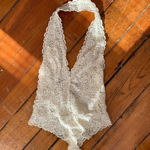 ivory lace bodysuit
